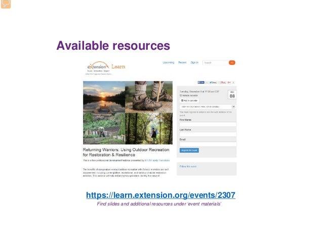 Department Of Defense Natural Resources Webinar