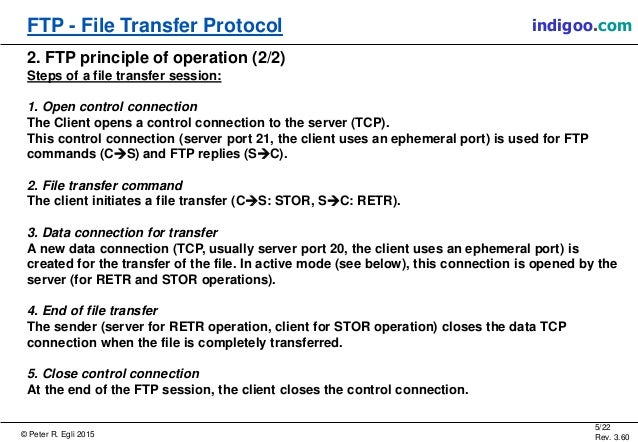 file transfer protocol essay The ftp protocol is an internet protocol that provides the simplest way of exchanging electronic files between computers with internet connection ftp uses the tcp/ip protocols to transfer the web page files from the designers to the server computers to be viewed by internet users worldwide.