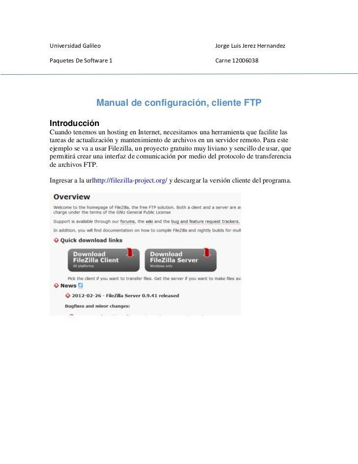 Universidad Galileo                                           Jorge Luis Jerez HernandezPaquetes De Software 1            ...