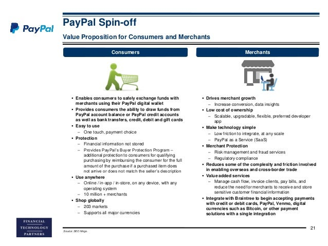 1 what is the value proposition that paypal offers consumers how about merchants Paypal generated $14 billion in net revenues for ebay  1 what is the value proposition that paypal offers consumers how about merchants 2.