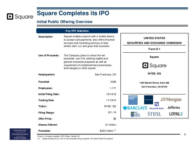 Square 1 financial ipo
