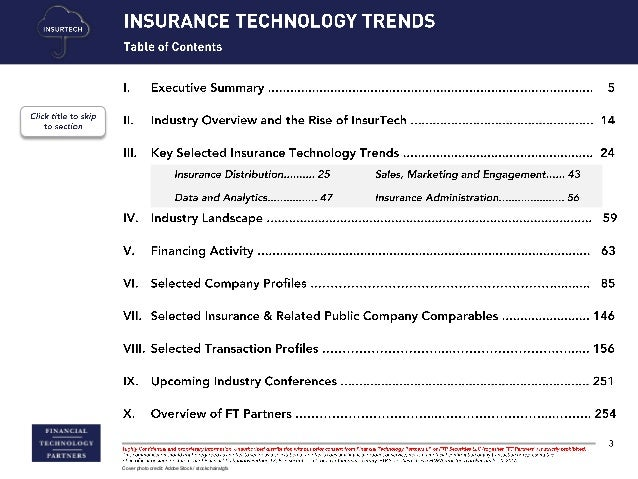 FT Partners Research - Prepare for the InsurTech Wave Slide 3