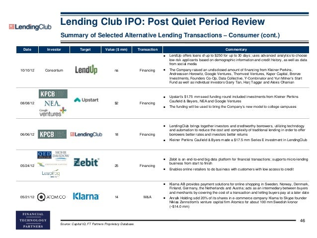 Should i invest in lending club ipo