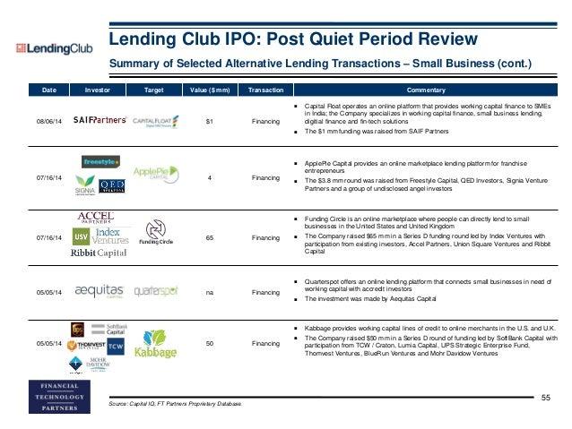 Lending club ipo wiki