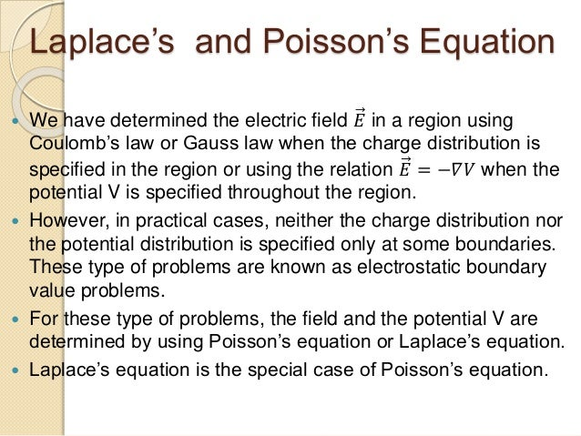 Poisson's and Laplace's Equation