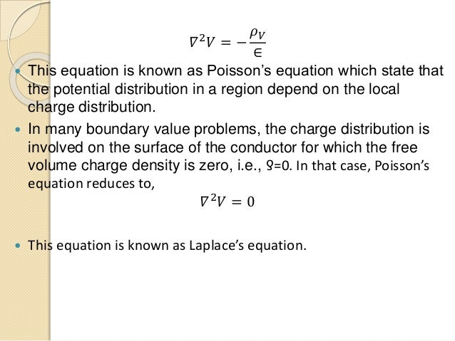Application Of Poisson Equation