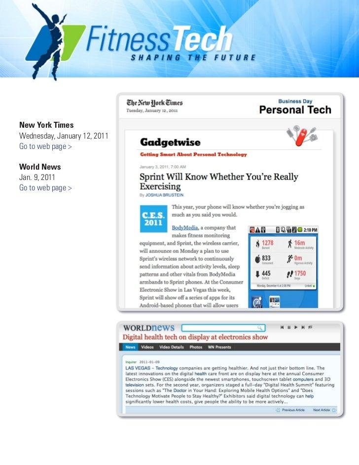 New York TimesWednesday, January 12, 2011Go to web page >World NewsJan. 9, 2011Go to web page >