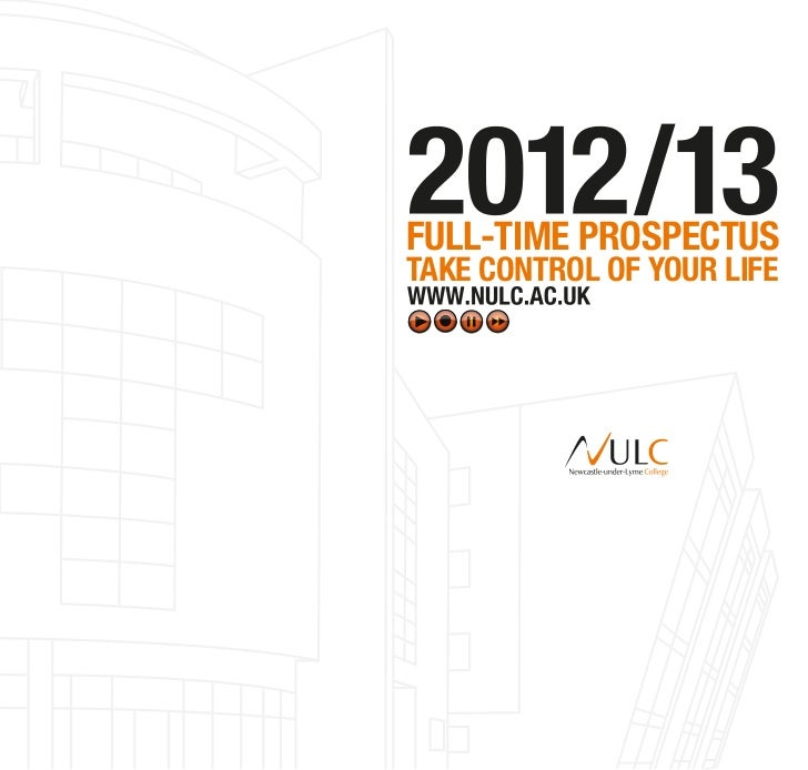 Newcastle-under-Lyme College\'s Full-time prospectus 2012-13