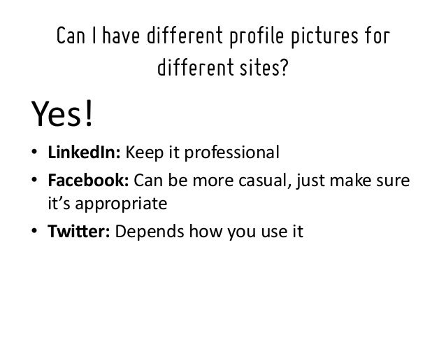 What makes a good profile picture