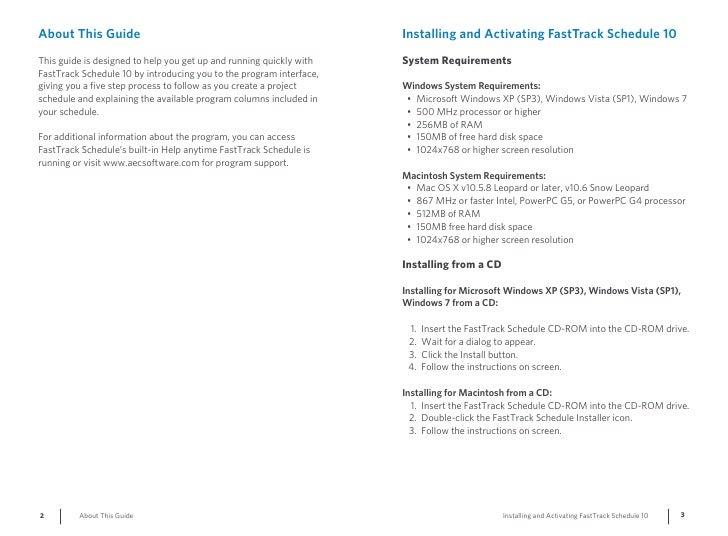 FastTrack Schedule 10 Getting Started Guide Slide 2
