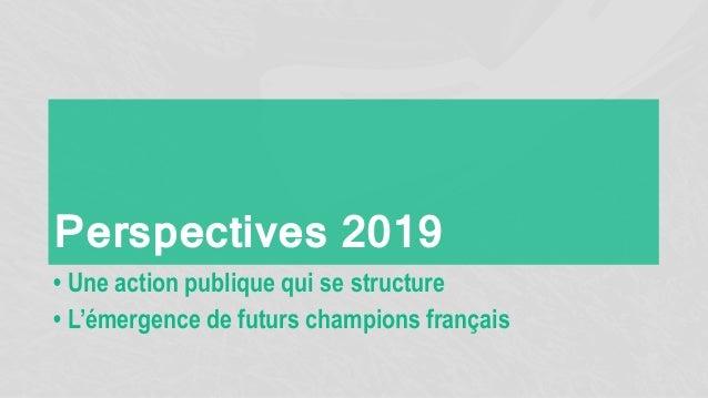 Perspectives 2019 • Une action publique qui se structure • L'émergence de futurs champions français