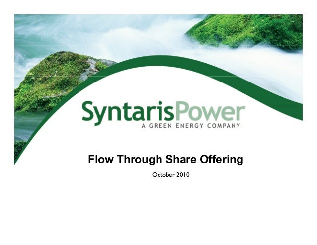 Flow Through Share Offering October 2010