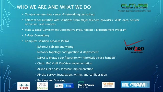 Future Telecom Solutions Verizon Partnership Plan