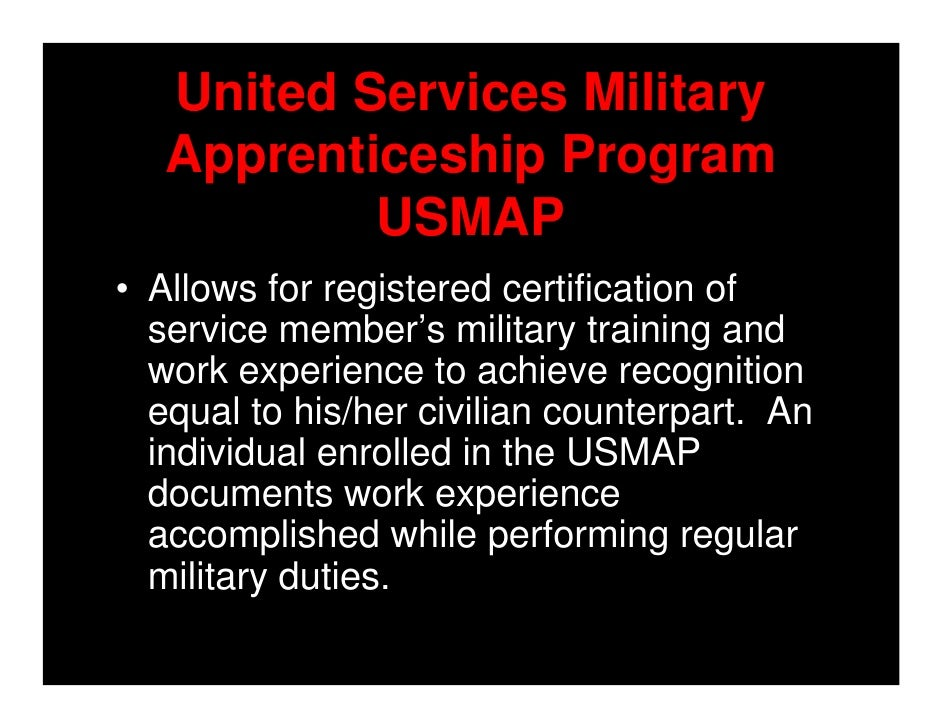 FTSW Success Workshop Jan - Us map apprenticeship program