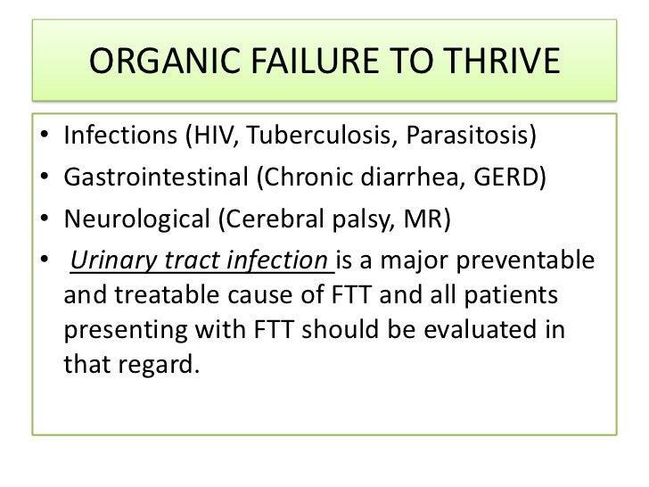 CAUSES OF FAILURE TO THRIVE• PRENATAL               • POSTNATAL Prematurity             (i) inadequate caloric exposure...
