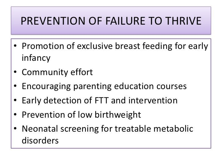 Approach to a child with failure to thrive