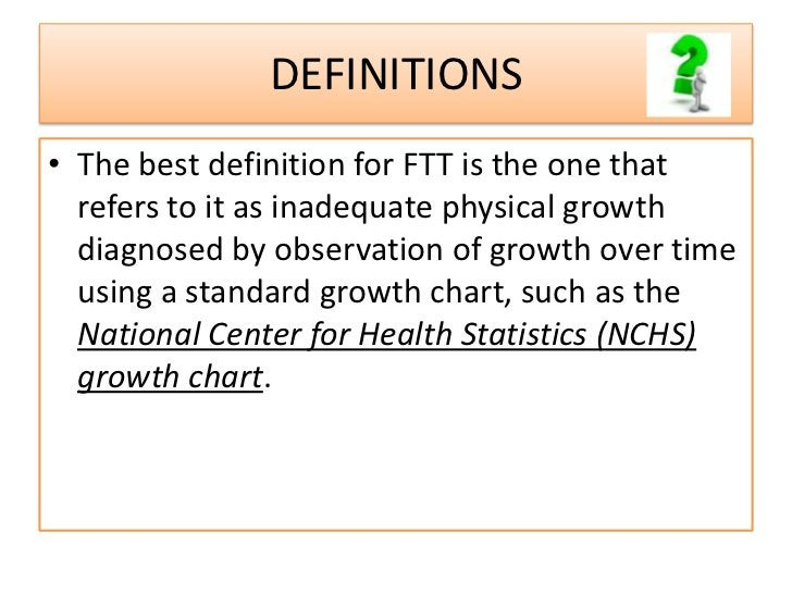 DEFINITION• Weight below the third percentile for age on  the growth chart or more than two standard  deviations below the...