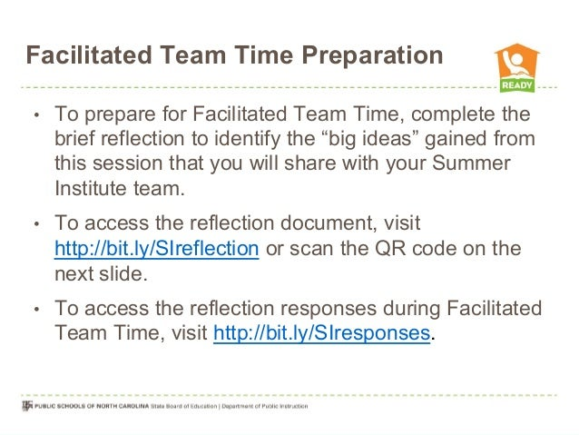 "Facilitated Team Time Preparation •  To prepare for Facilitated Team Time, complete the brief reflection to identify the ""..."