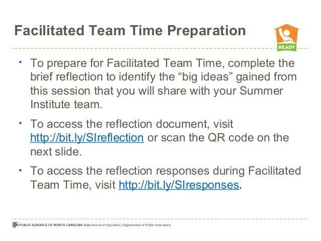 "Facilitated Team Time Preparation • To prepare for Facilitated Team Time, complete the brief reflection to identify the ""b..."