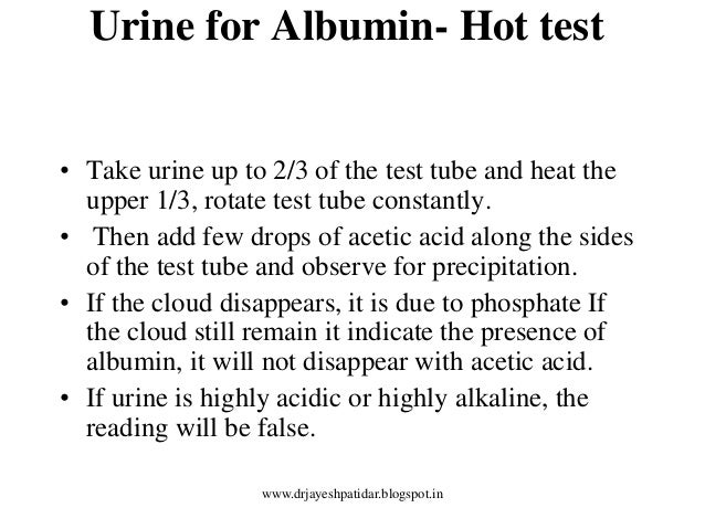albumin test Learn in-depth information on albumin blood test, on why the laboratory test is performed, specimen collected, significance of the results, and its use in diagnosing.