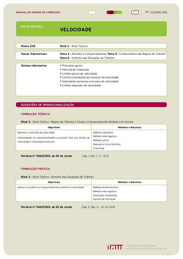 1 FICHA TÉCNICA VELOCIDADE Níveis GDE Nível 3 – Nível Táctico Temas Transversais Tema 2 - Atitudes e Comportamentos; Tema ...