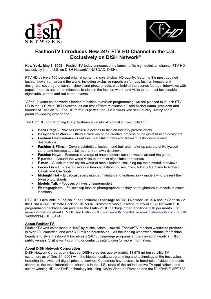 Ftv Hd On Dish Network Press Release