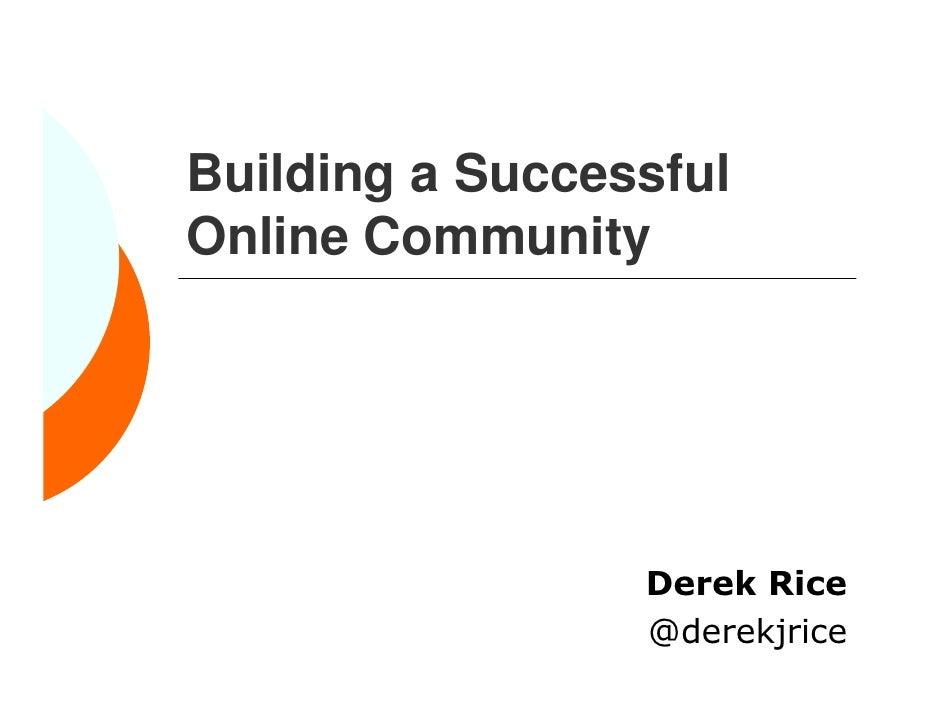 Building a Successful Online Community - Social Media FTW