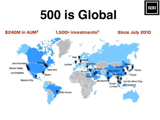 500 is Global Since July 20101,500+ investments3 0 Startups Is the Most Active Seed Investor in Silicon ey and Aims to be ...
