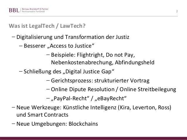 FU Berlin, Praesentation zu LegalTech - Tom Braegelmann Slide 2