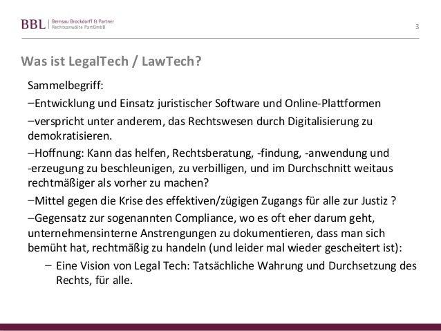 FU Berlin, Praesentation zu LegalTech - Tom Braegelmann Slide 3