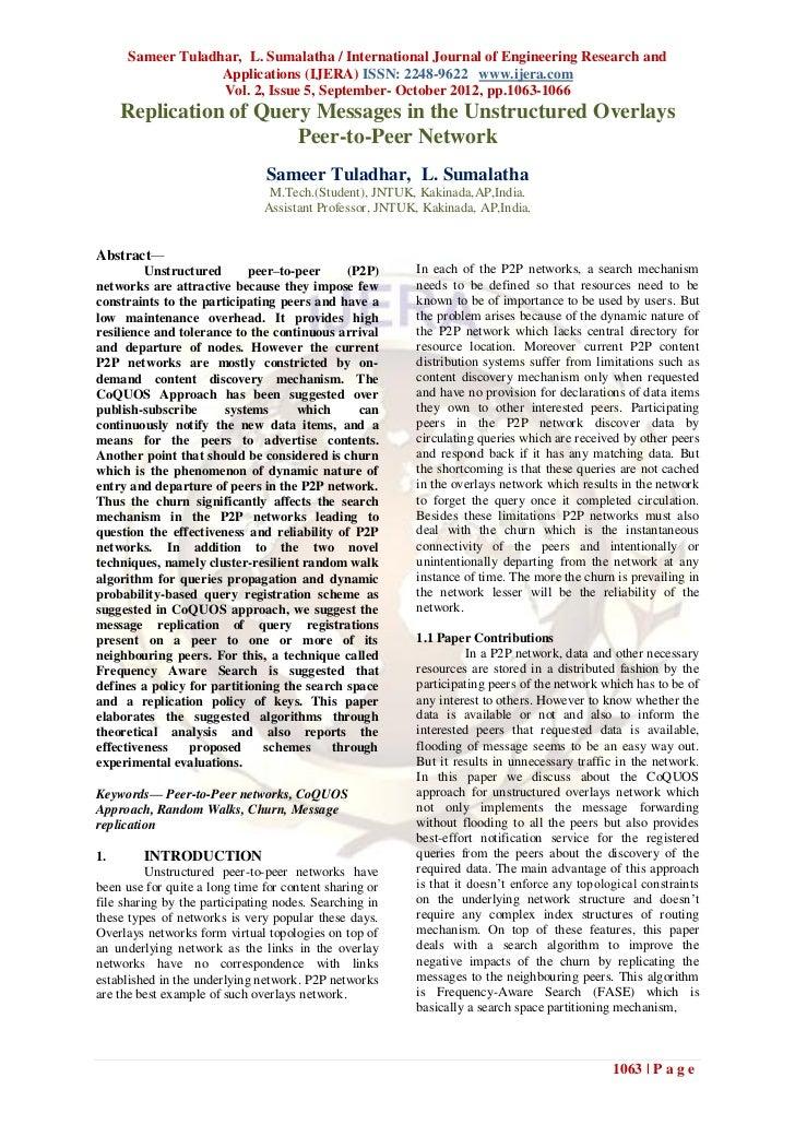 Sameer Tuladhar, L. Sumalatha / International Journal of Engineering Research and                   Applications (IJERA) I...