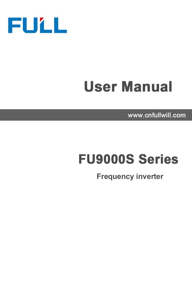 fu9000 s manual book