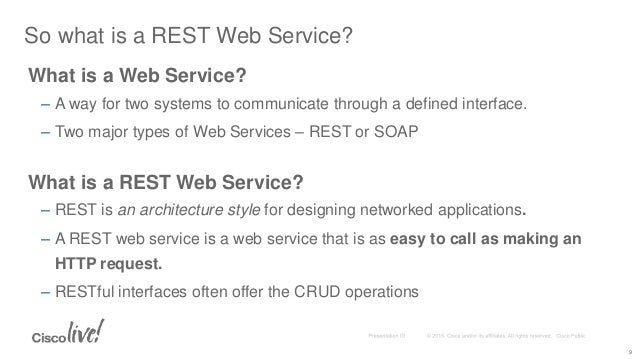 DEVNET-1001 Coding 101: How to Call REST APIs from a REST Client and …