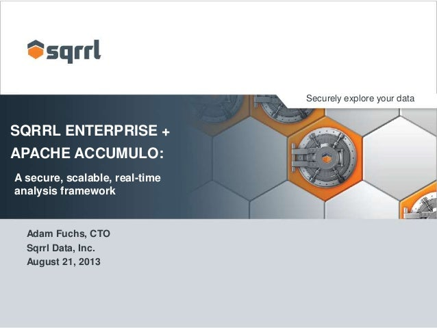 Securely explore your data  SQRRL ENTERPRISE + APACHE ACCUMULO: A secure, scalable, real-time analysis framework  Adam Fuc...