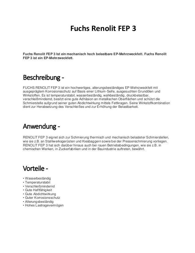 EP-Mehrzweckfett Mehrzweckfett RENOLIT FEP 3 GELB 400g FUCHS Fettpresse