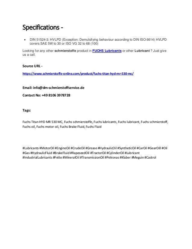 Fuchs titan hyd mr 530 mc schmierstoffe-online com
