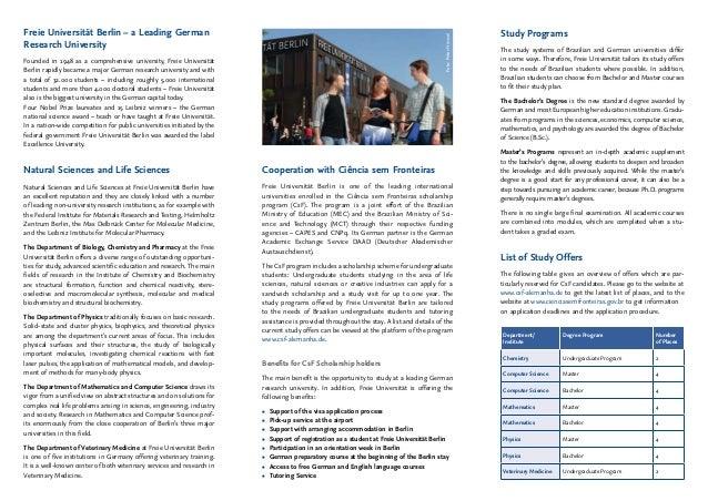 Freie Universität de Berlin - CSF Slide 2