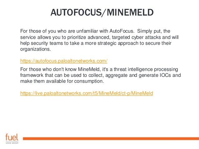 AUTOFOCUS/MINEMELD