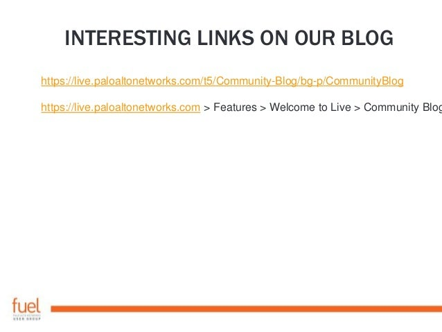 Pro Tips for Power Users – Palo Alto Networks Live Community and Fuel User Group London