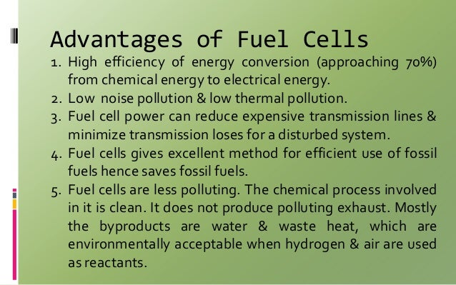 advantages of fuel cell pdf