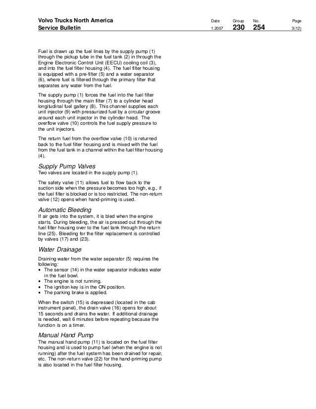 Volvo D13 Fuel Check Valve