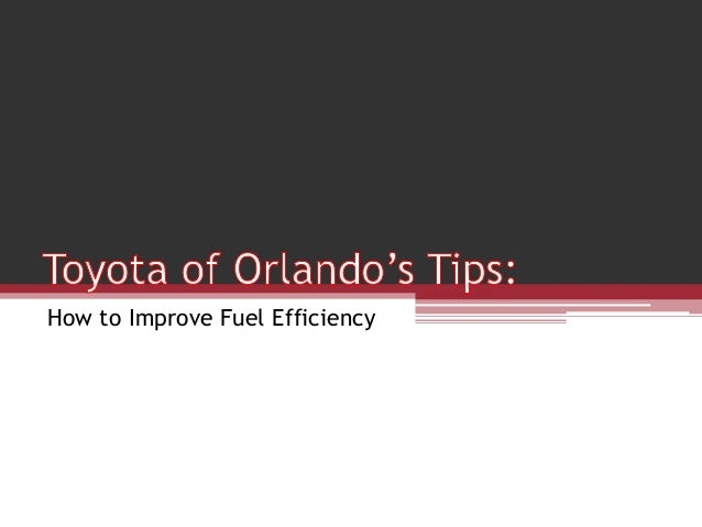 How to Improve Fuel Efficiency