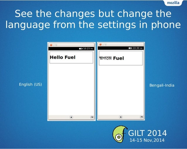 See the changes but change the language from the settings in phone English (US) Bengali-India GILT 2014 14-15 Nov,2014
