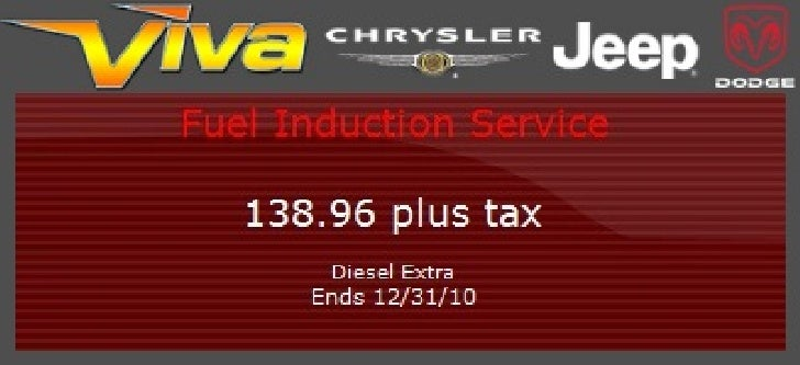 Fuel Induction Service Special – Viva Dodge Chrysler Jeep El Paso TX