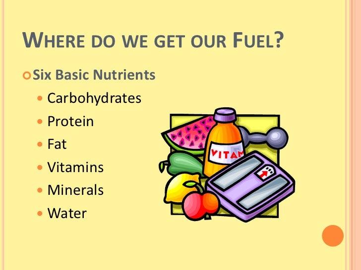 six basic nutrients