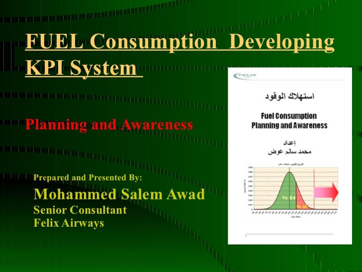 Prepared and Presented By:   Mohammed Salem Awad Senior Consultant  Felix Airways  Planning and Awareness   FUEL Consumpti...