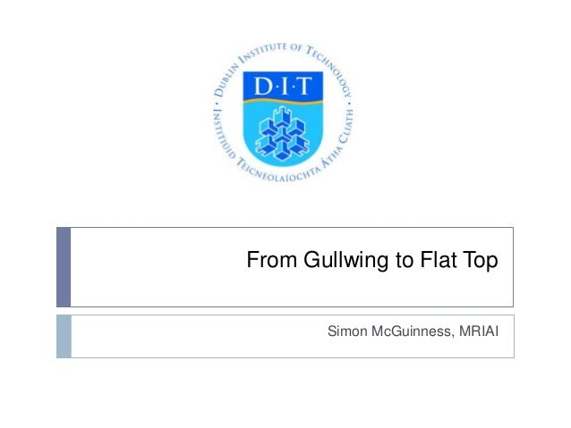 From Gullwing to Flat Top  Simon McGuinness, MRIAI
