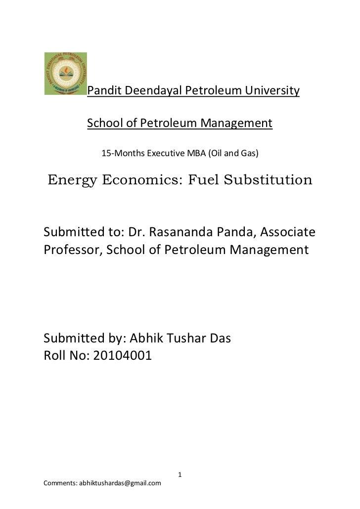 Pandit Deendayal Petroleum University            School of Petroleum Management                15-Months Executive MBA (Oi...