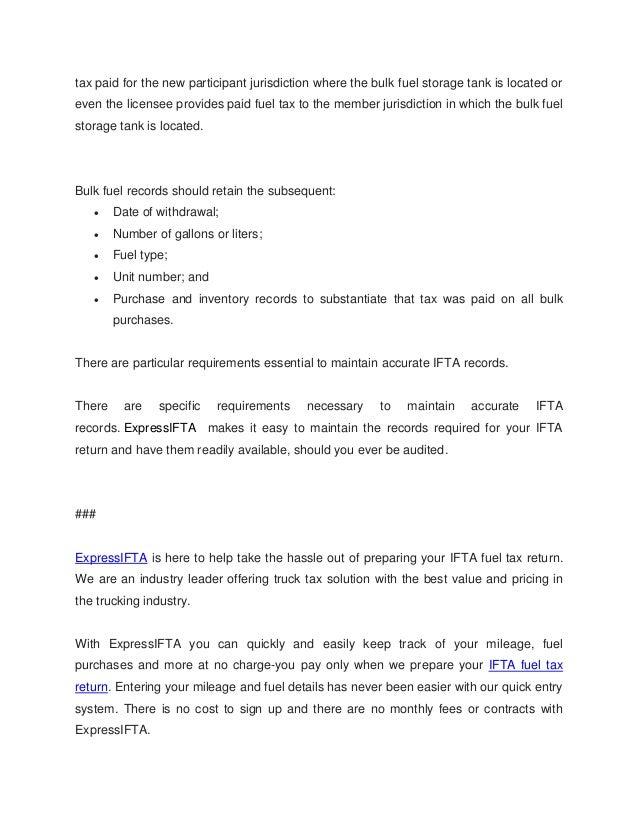 Fuel Tax Ifta International Fuel Tax Agreement
