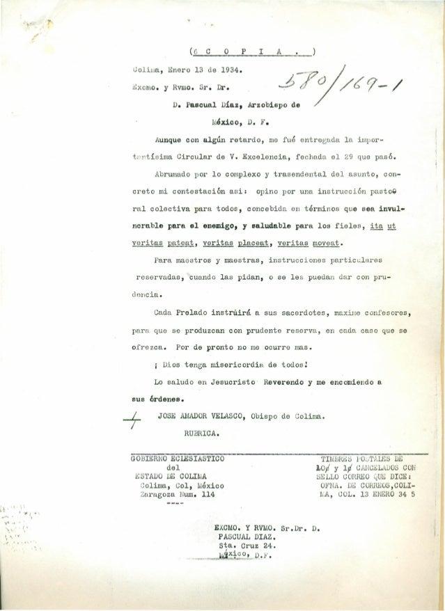 ,  (6  . o  e  P  A  I  --.77;1/r?9-/  Uoliwa, Enero 13 de 1934. ~xcmo.  y  J¿JO  Rvmo. Sr. Dr.  D. Pascual Díaz, Arzobisp...